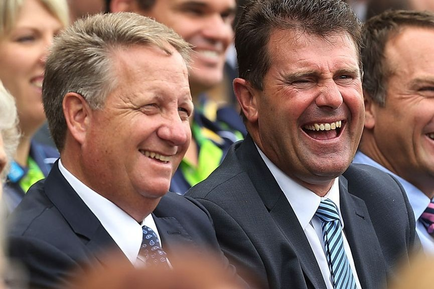 Mark Taylor  and  Ian Healy.  image - Getty