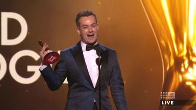 GLEESON helped GRANT DENYER win a Gold Logie
