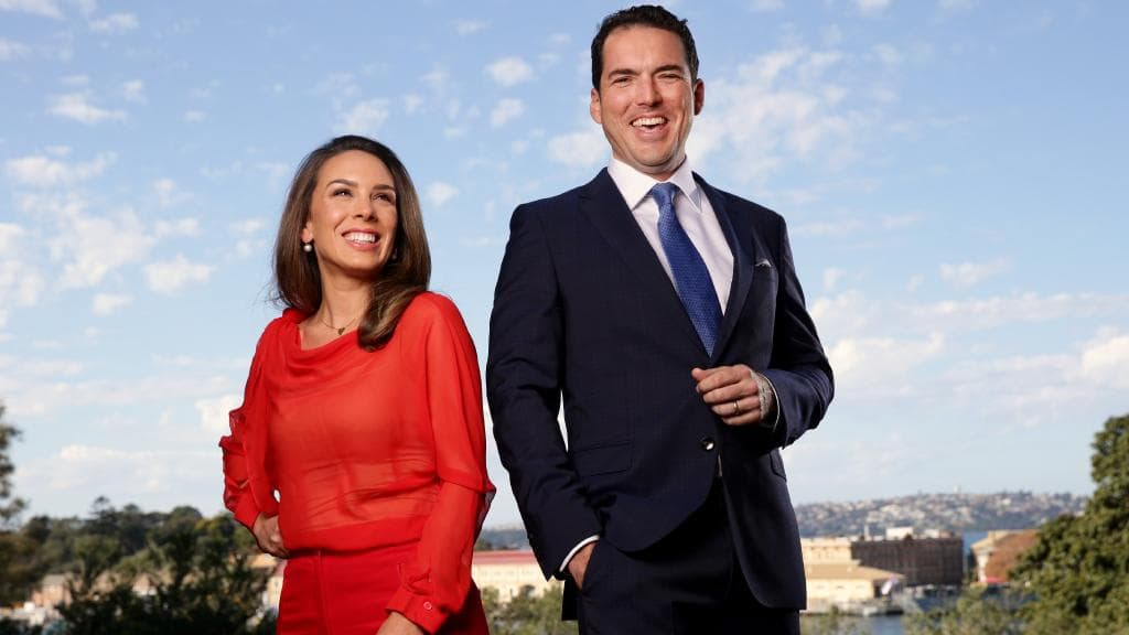 Laura Jayes and Peter Stefanovic images -  Daily Telegraph