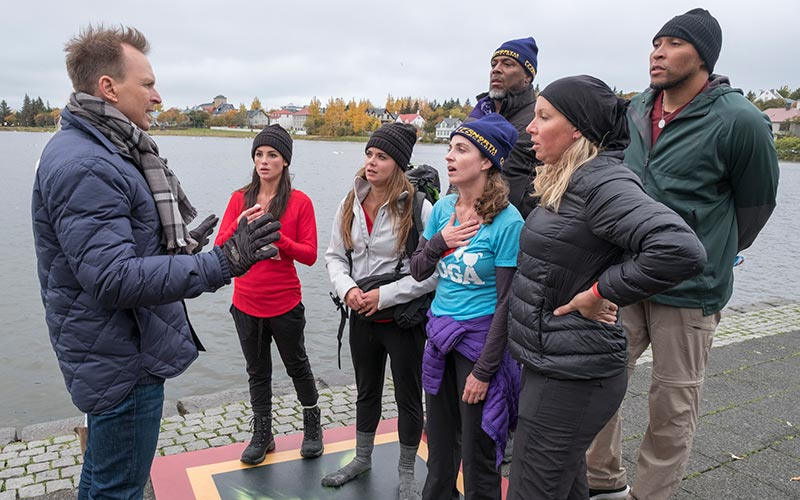Teams competing in the US version of The Amazing Race hosted by Phil Keoghan. image - CBS