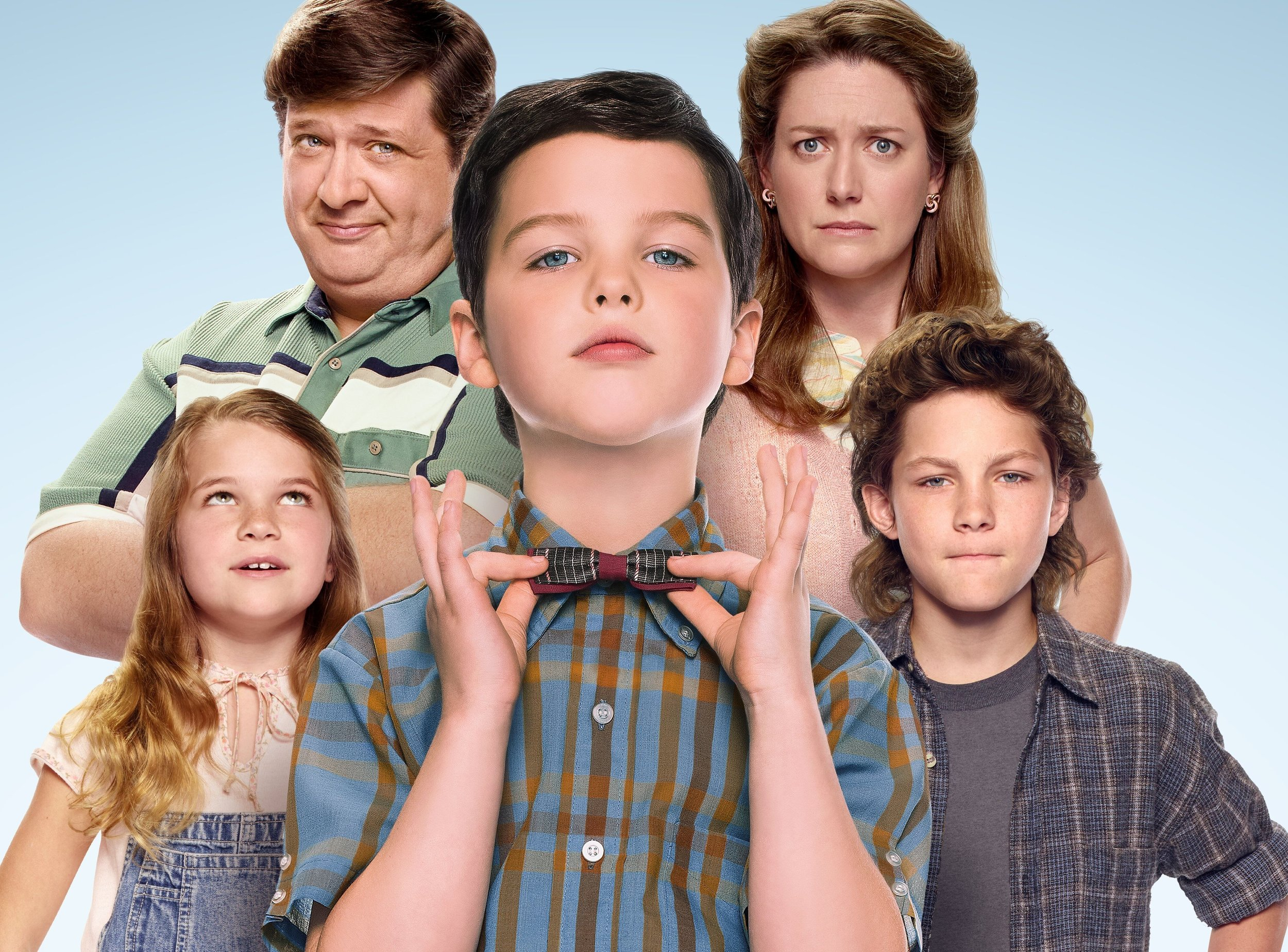 The cast of  Young Sheldon   PHOTO: Nine