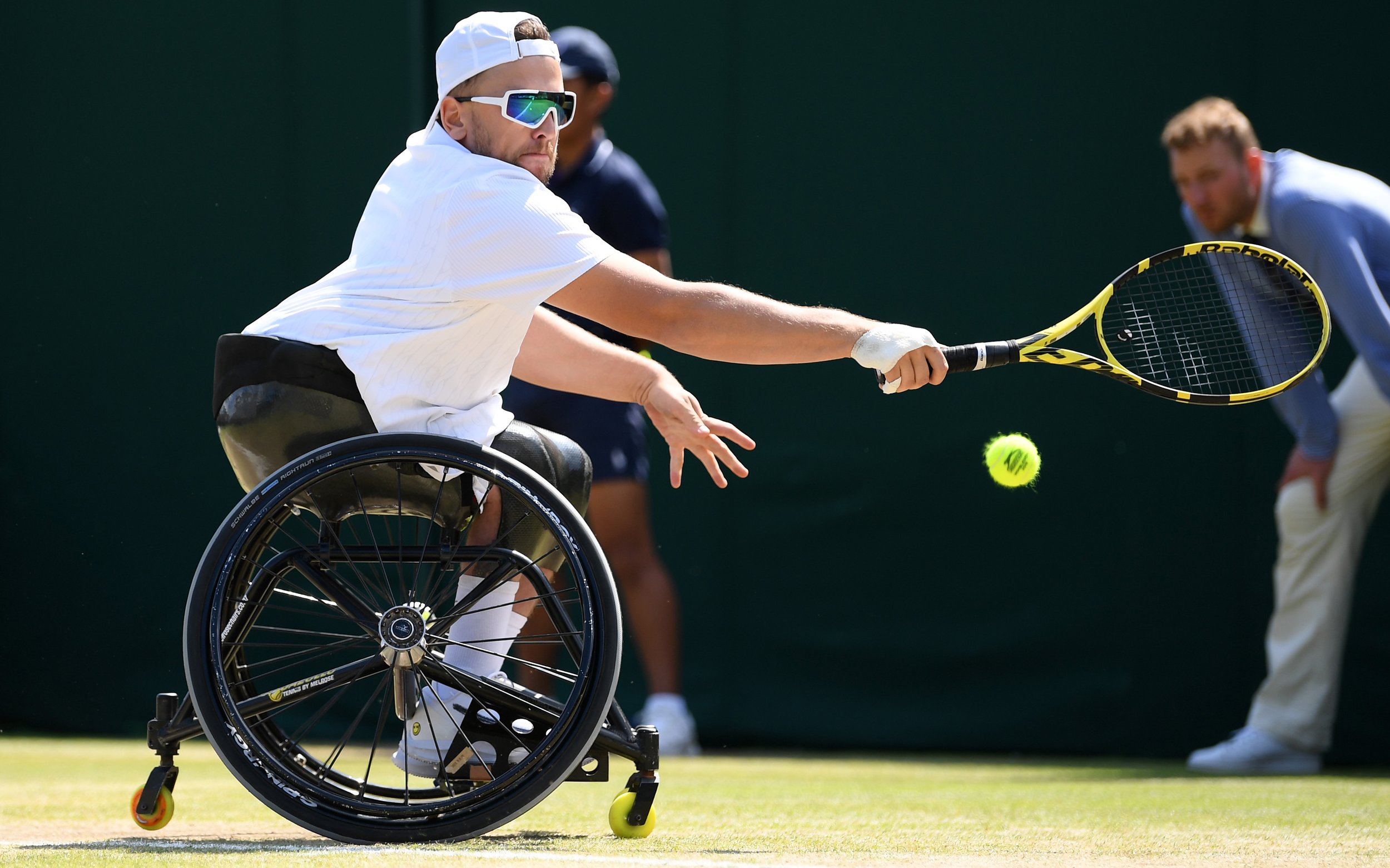 Dylan Alcott will compete in his first Wimbledon final.  image - NewsCorp