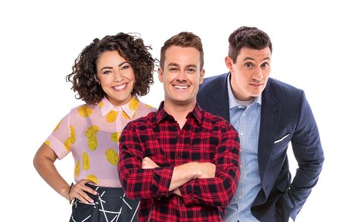 Ash London, Grant Denyer and Ed Kavalee make up 2DAY FM's current breakfast team