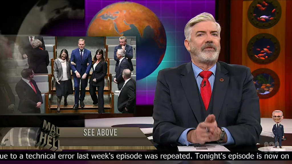 Shaun Micallef on repeat…  Souce - TV Cynic at MediaSpy