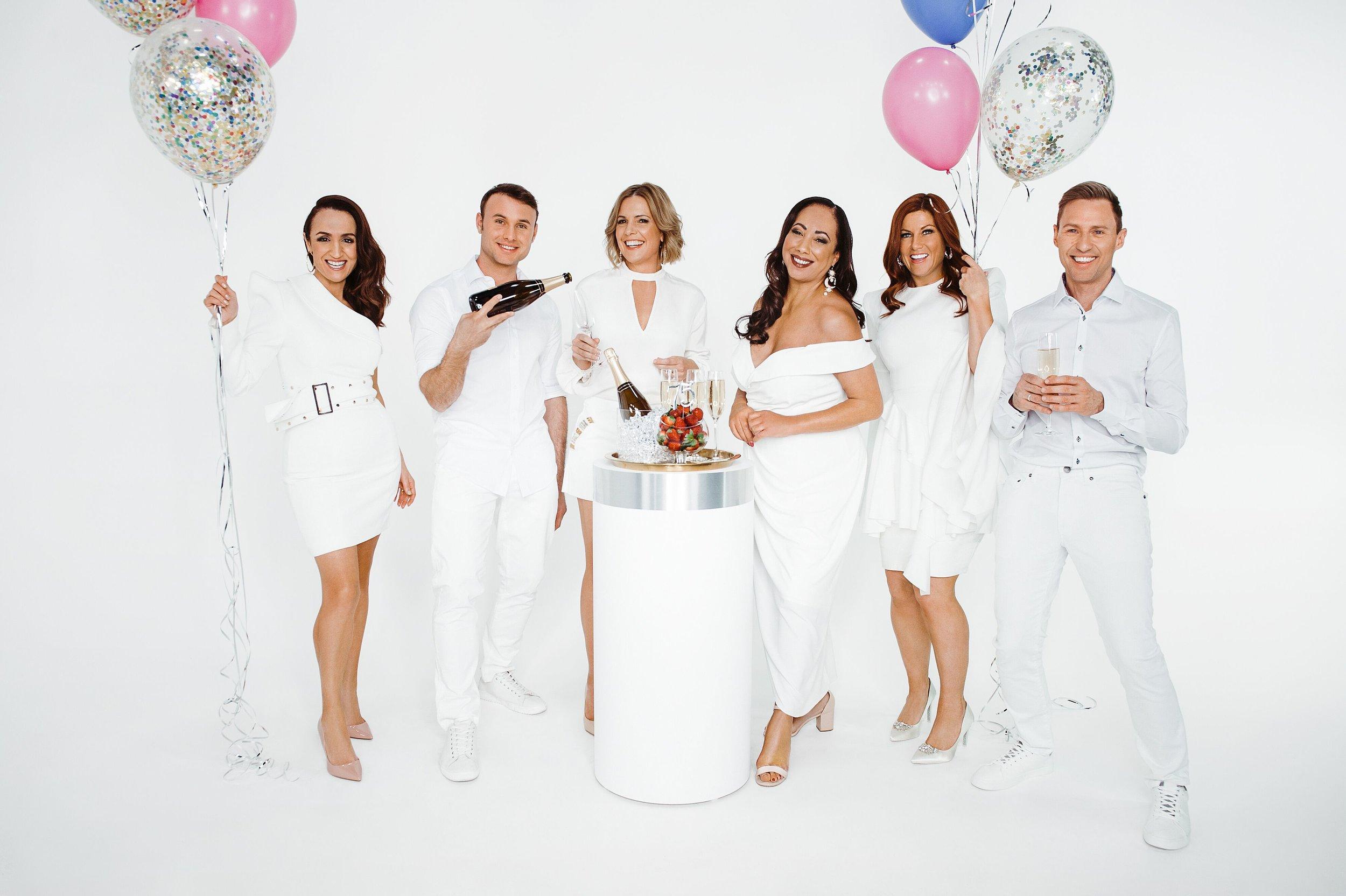Justine Diana, Zac Deane, Carla King-Turner, Nikki Vincent, Gabby Berry  and  Steven Milne  image - openshop