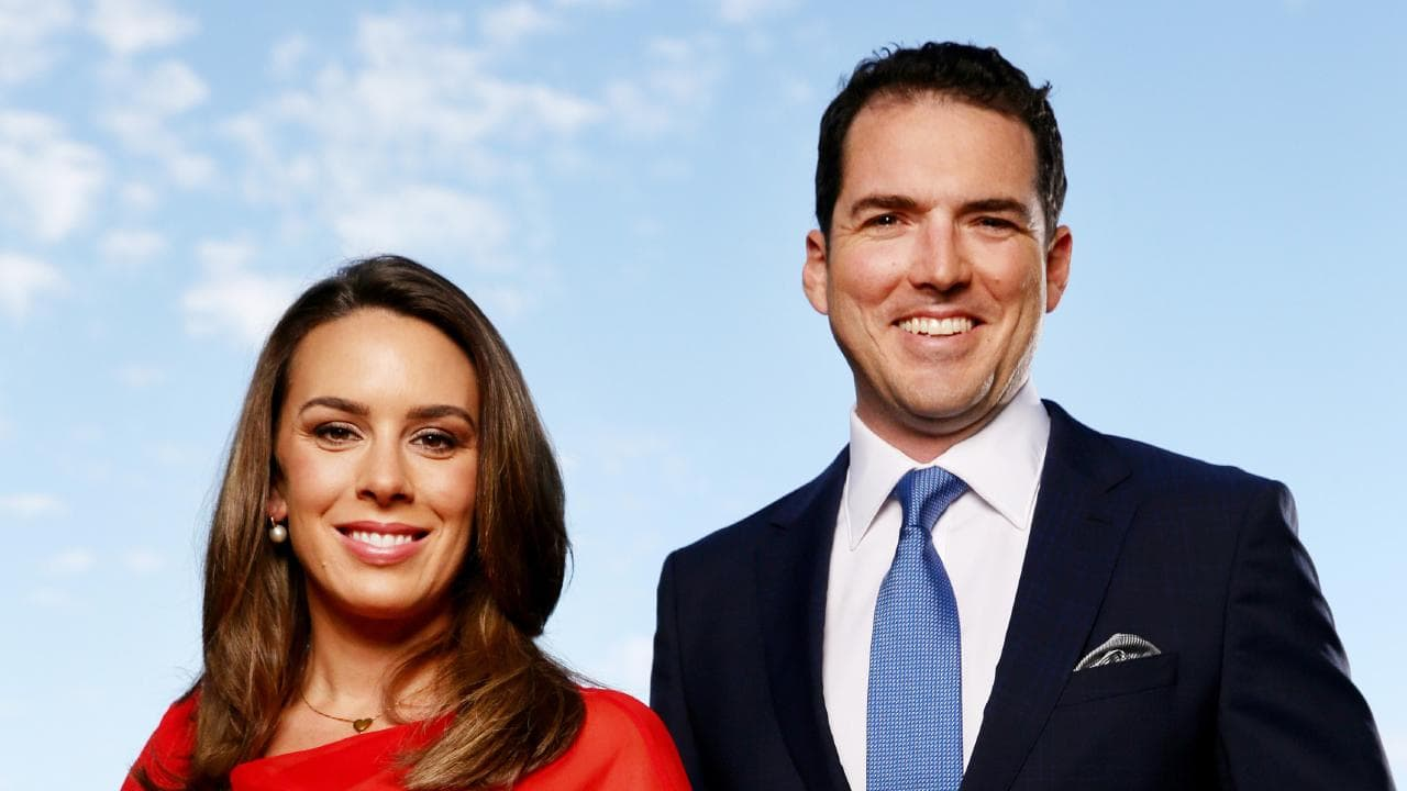 Peter Stefanovic  and  Laura Jayes  host  First Edition  on Sky News  PHOTO: The Daily Telegraph