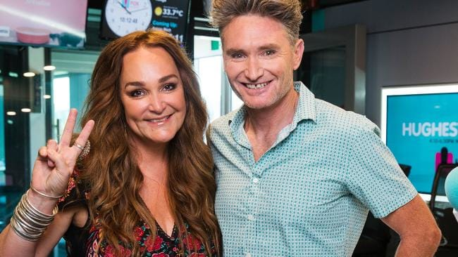 Kate Langbroek  (pictured with  Dave Hughes)  won't return to radio full time until she returns to Australia  PHOTO: News Corp