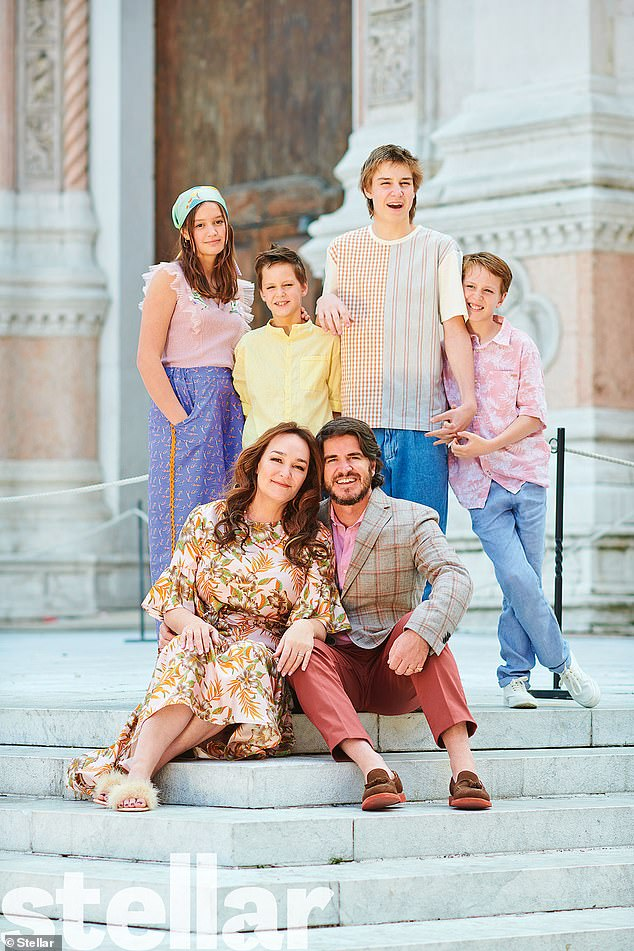 Kate and her family are on a sabbatical in Italy  PHOTO: News Corp