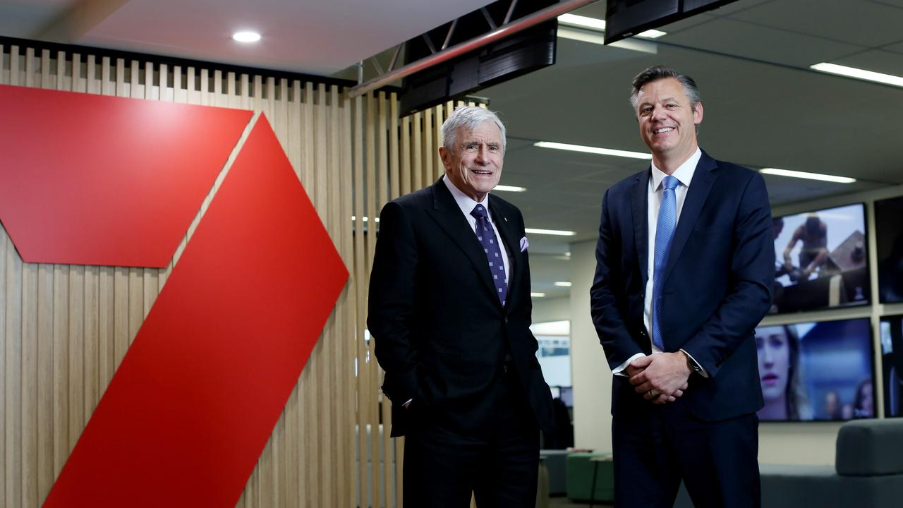 Kerry Stokes  and new CEO  James Warburton