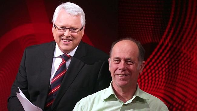 Q&A  host  TOny Jones  with EP  Peter McEvoy who  will finish up at the ABC in December  PHOTO: ABC