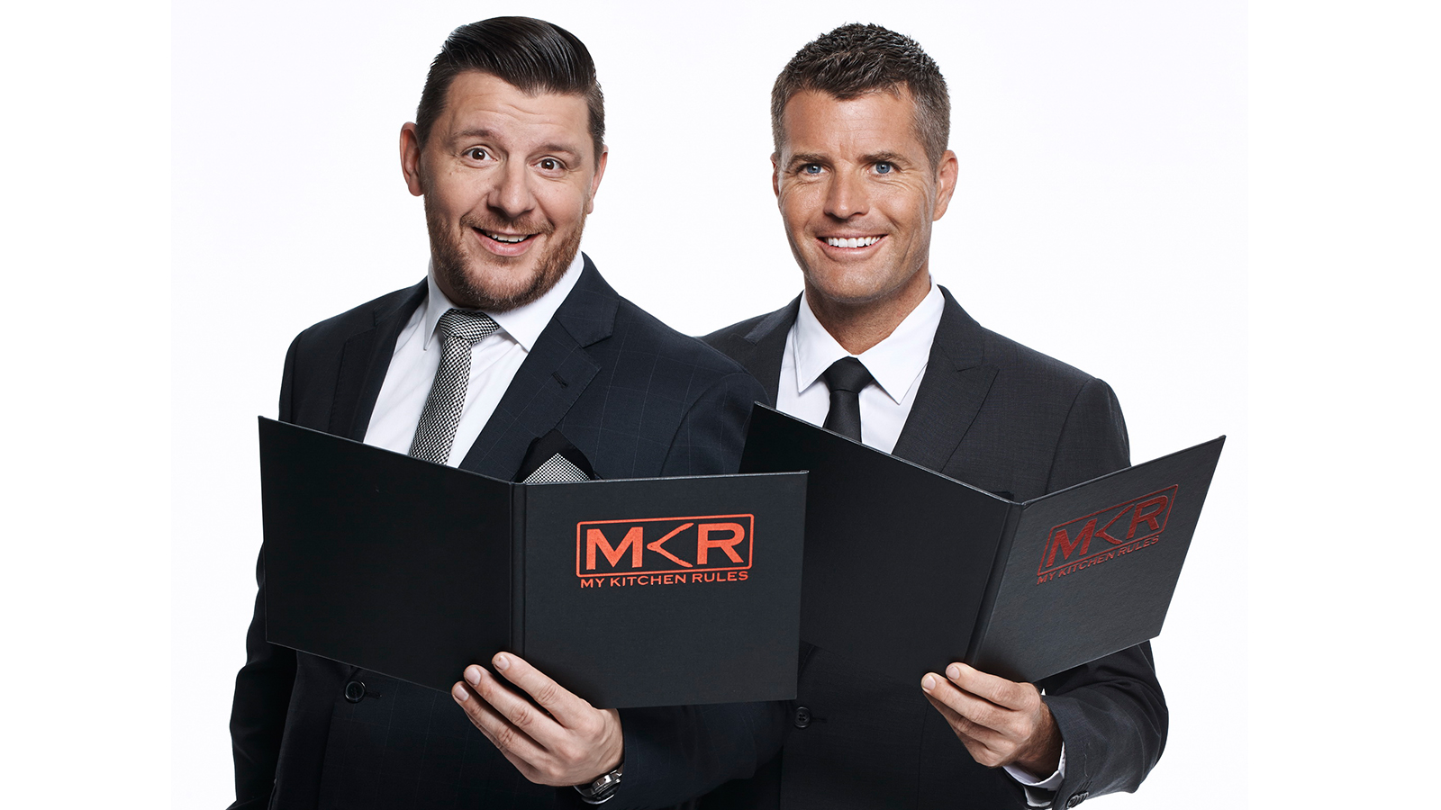 Manu Feildel  and  Pete Evans  host  My Kitchen Rules   PHOTO: 7