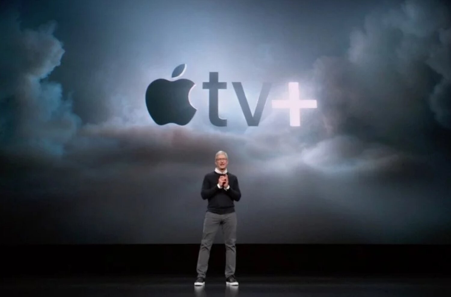 Apple CEO Tim Cook announcing Apple TV+ this morning  image - imore
