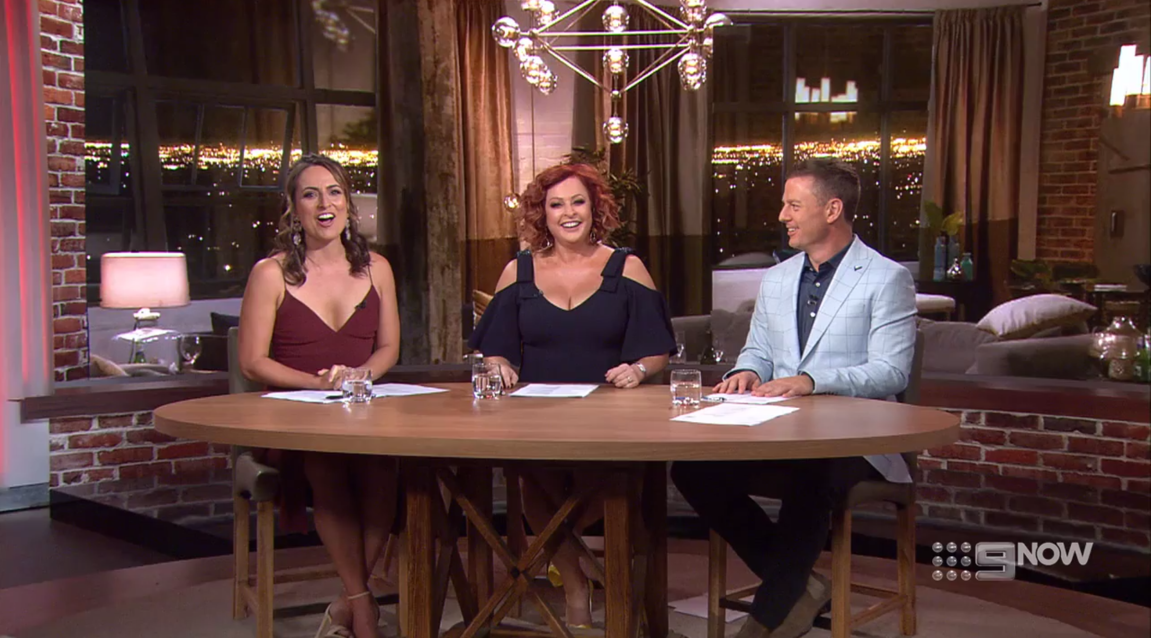 Jayne Azzopardi, Shelly Horton  and  Ben Fordham  on the final episode of  Talking Married