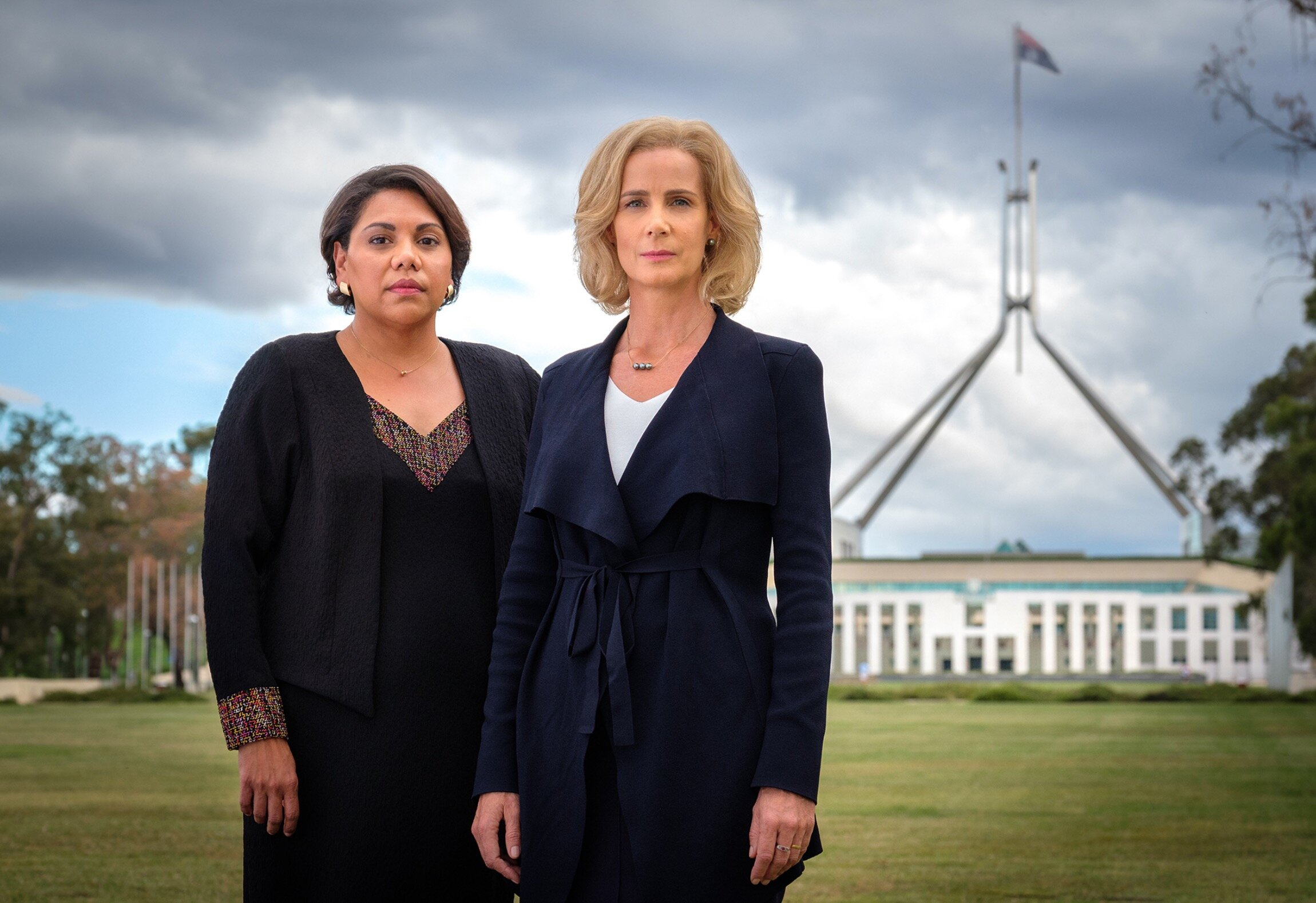 Deborah Mailman and Rachel Griffiths in Total Control  image - ABC