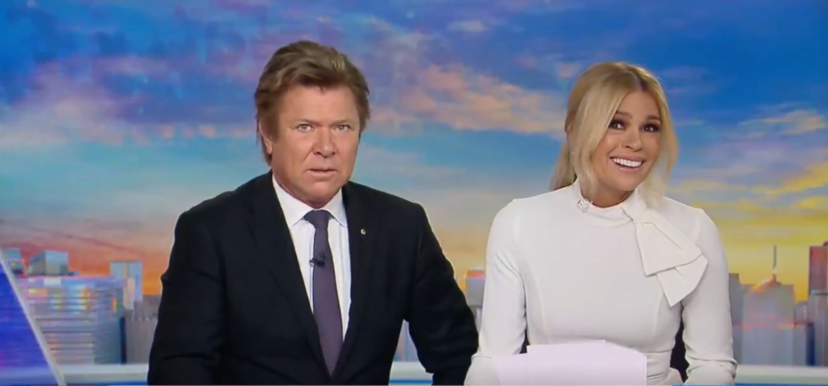 Richard Wilkins  in a state of shock as  Sonia Kruger  admits to a smelly revelation  PHOTO: 9