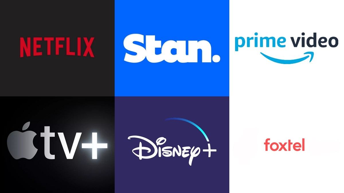 Some of the key players in the war for Australian Consumers Streaming Dollars