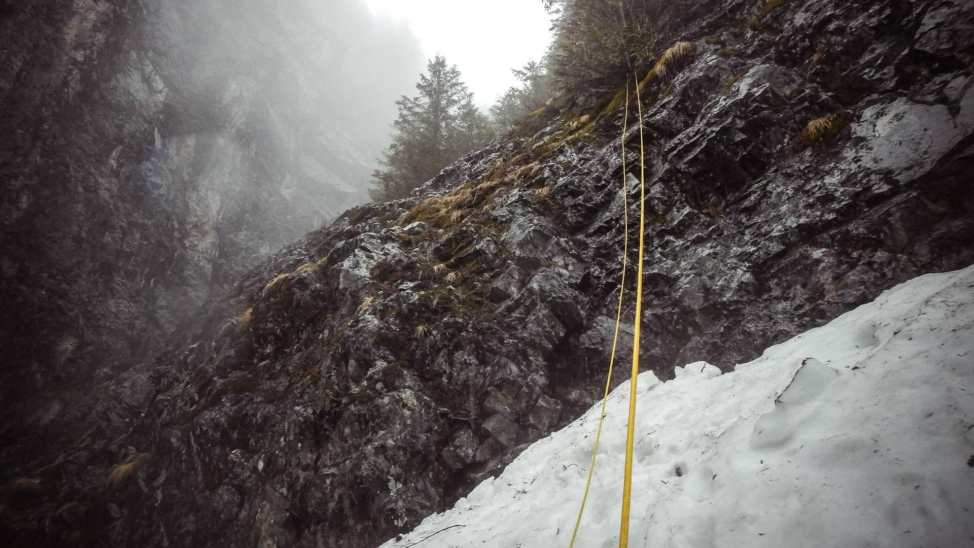 We got a tad lost on Guye Peak last year, ended up doing multiple rappels for a faster descent.