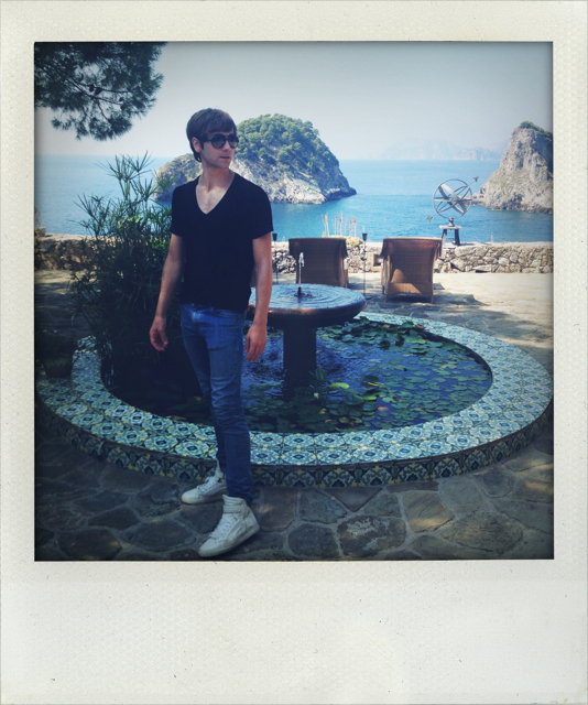 on Nureyev's Island in Italy