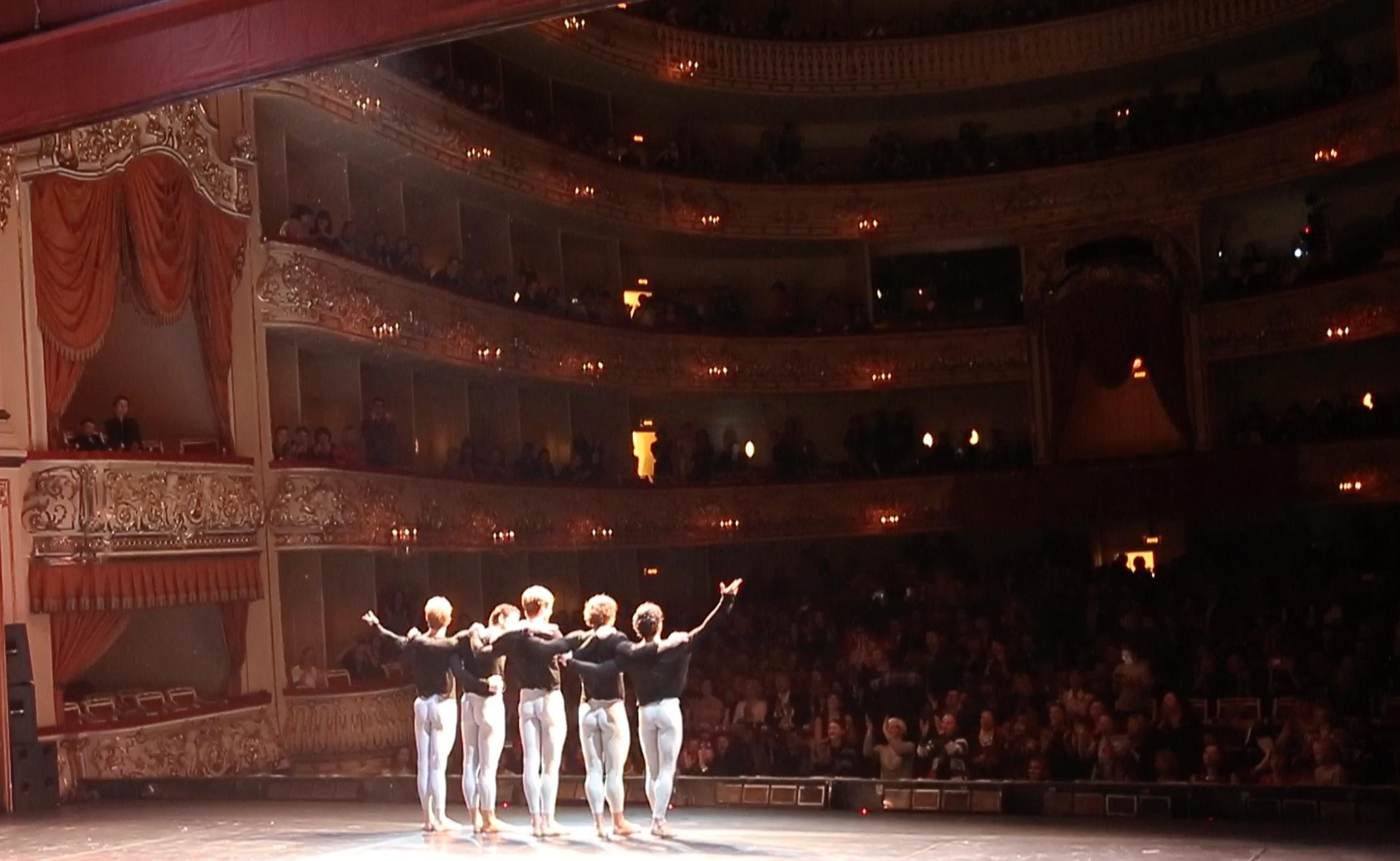 Kings of the Dance in St.Petersburg        Photo (c) Charles Evans          (left to right)Denis Matvienko,Marcelo Gomes, FriedemannVogel,Ivan Vassiliev,Herman Cornejo