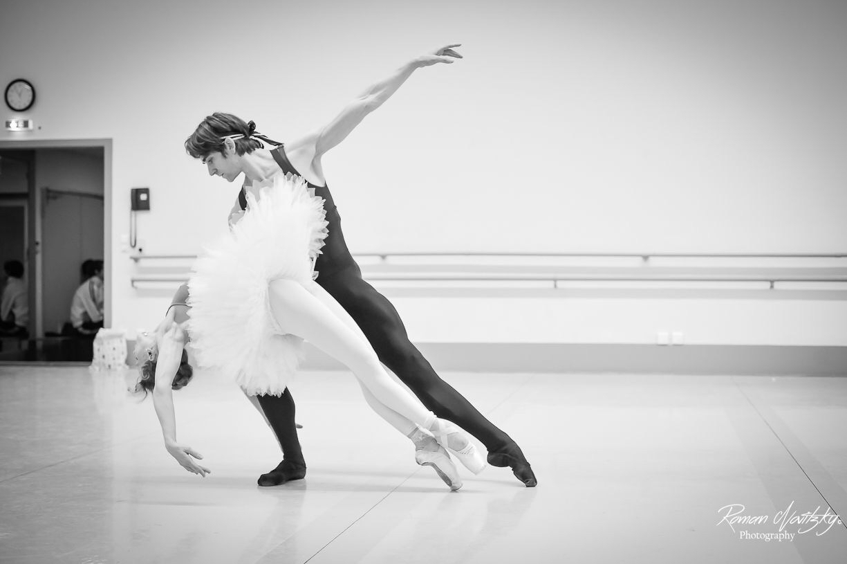 Friedemann Vogel and Alicia Amatriain in rehearsals (c) Roman Novitzky