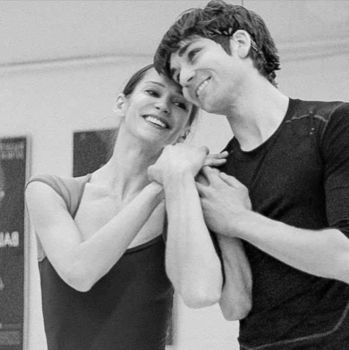 Polina Semionova and Friedemann Vogel during rehearsal in Zurich Photo © Richard Egli
