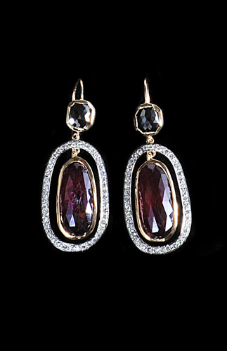 18ct-Gold-Pink-Spinel-Earrings-with-White-Diamond-Surround-and-Black-Diamond-.jpg