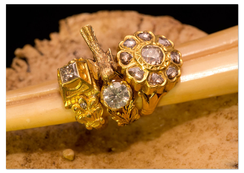 24ct Gold Diamond Rings