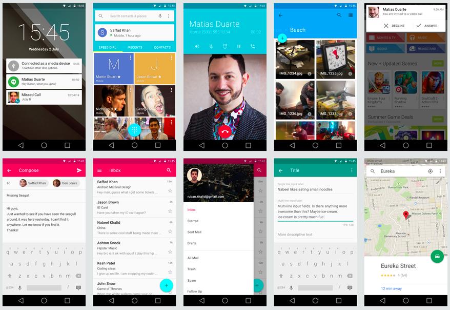 Android L GUI KIT by  Ruban Khalid