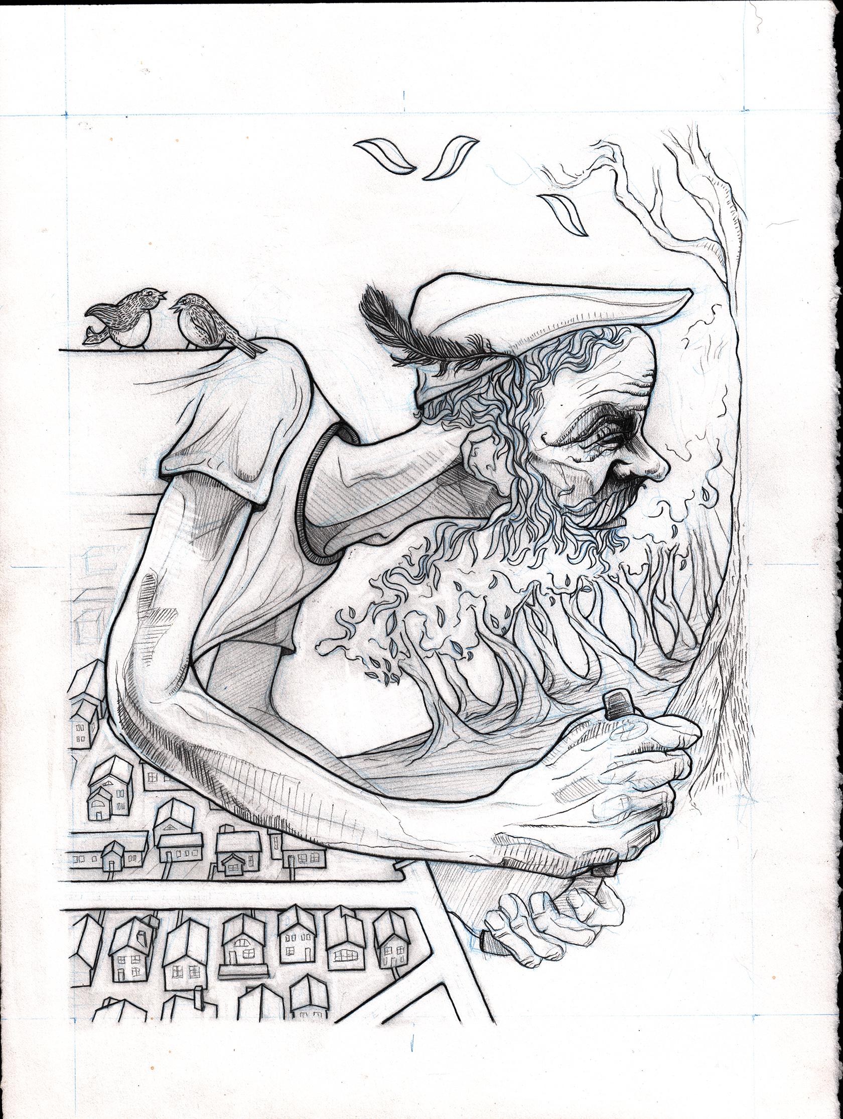 Original Drawing -  SOLD