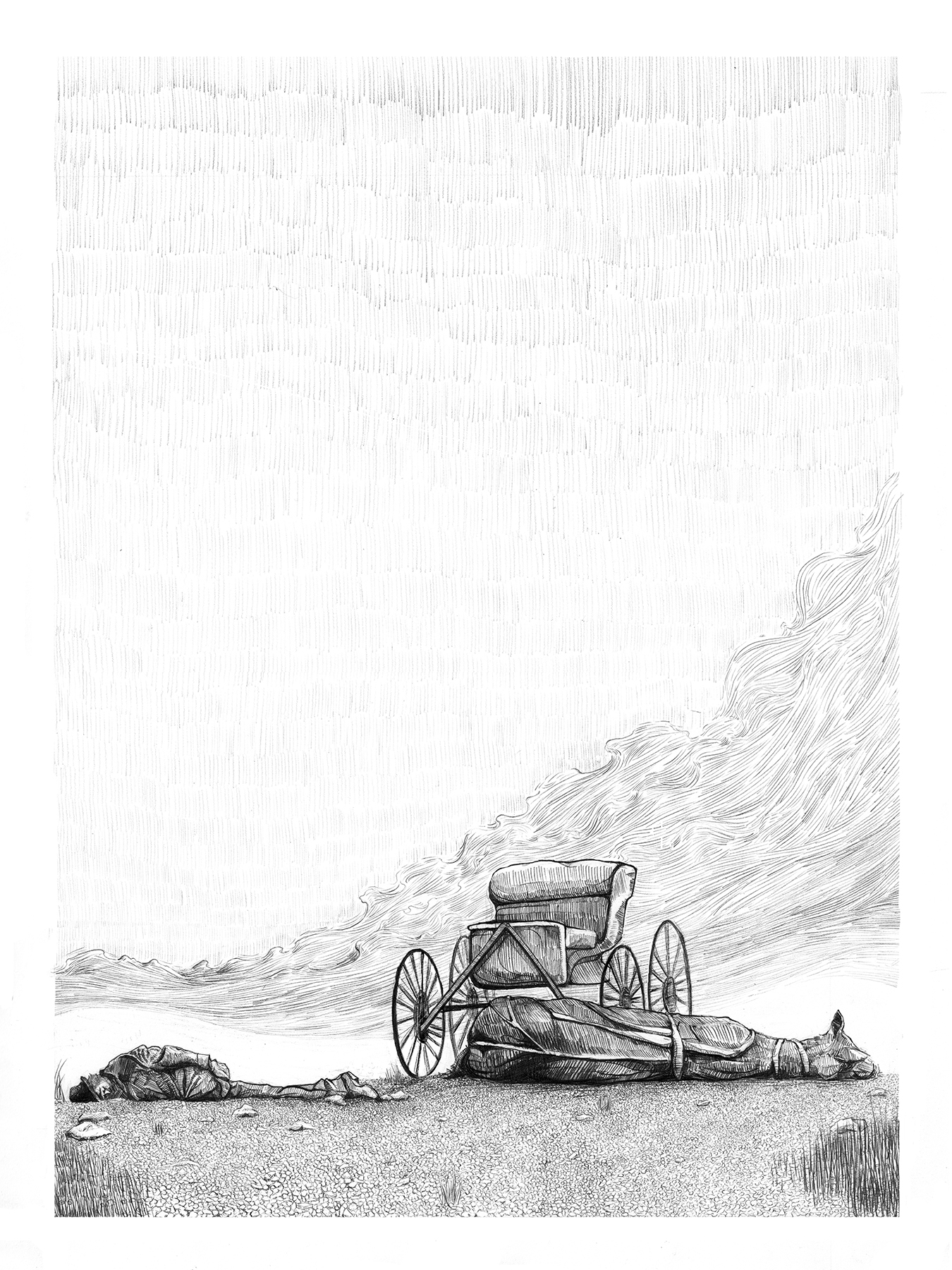 Original Drawing (Graphite on Stonehenge)