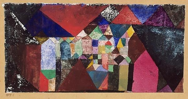 Municipal Jewel , Paul Klee 1917.The Berggruen Klee Collection, 1984.