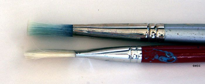 A visual index of the different types of art paint brushes. Image: ©2007 Marion Boddy-Evans. Licensed to About.com, Inc.