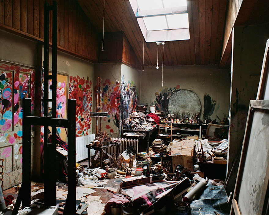 "Francis Bacon Perry Ogden, ""Francis Bacon's Studio at 7 Reece Mews, London"" (2001) (image from askyfilledwithshootingstars.com)"