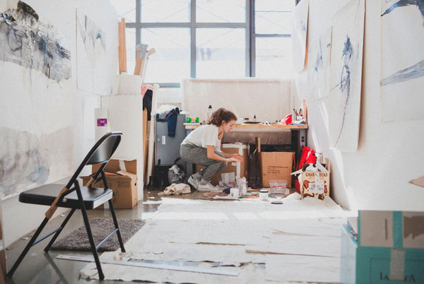 Student studio space. Photo: Daniel Terna