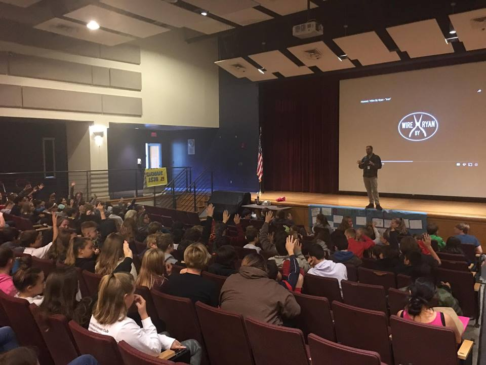A full house at Amesbury Middle School with Wire By Ryan - ArtLink