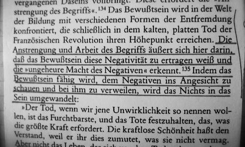 zu Hegel und Heidegger -