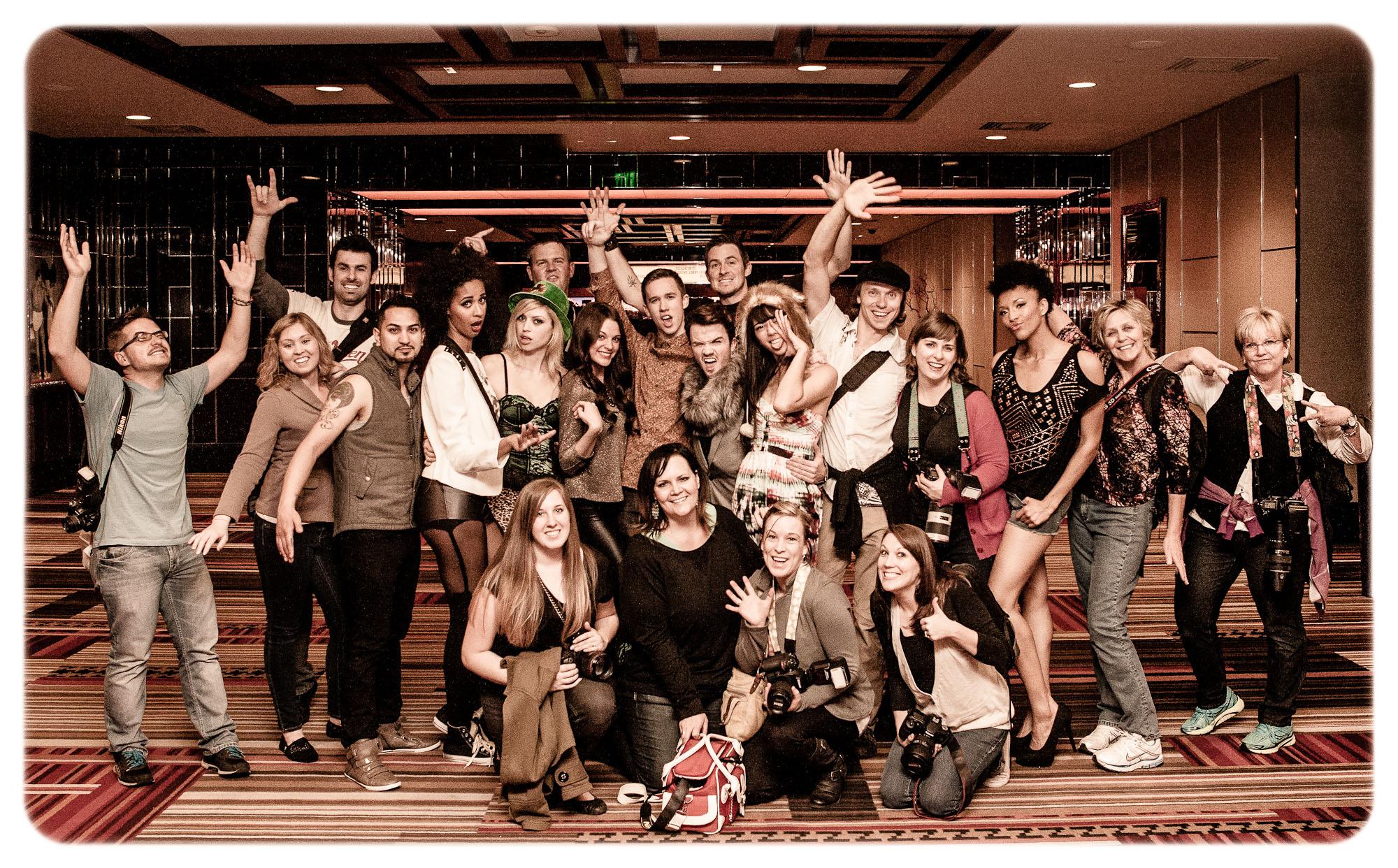 Group shot at the Cosmopolitan!