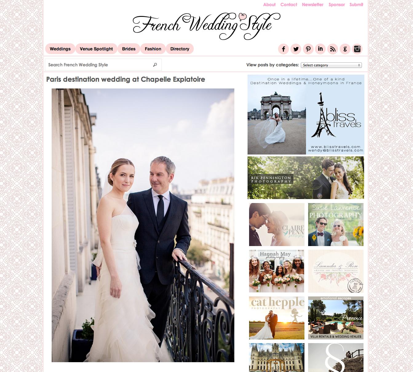 French Wedding Style - Paris, FR