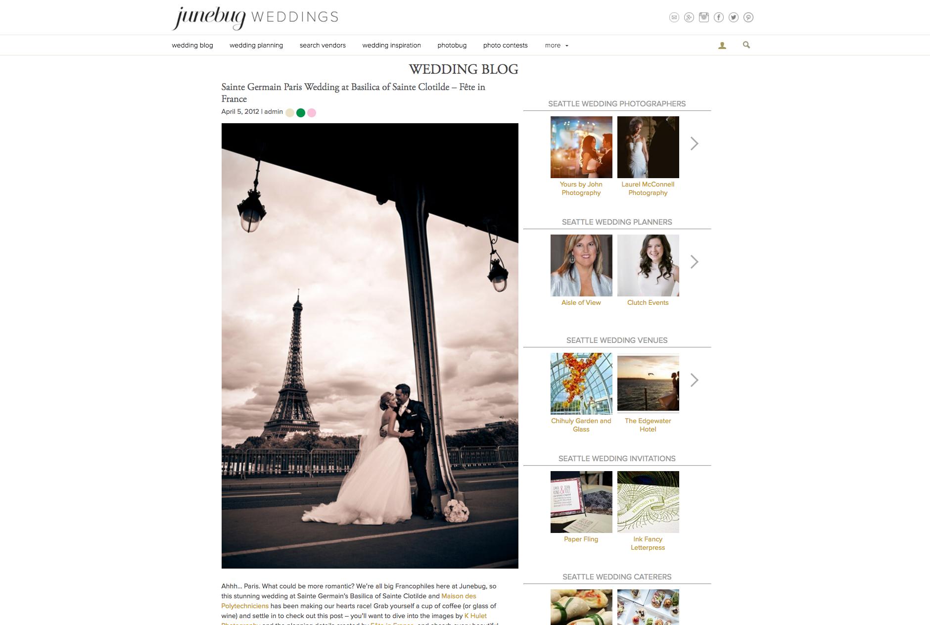 Junebug Weddings - Paris, FR