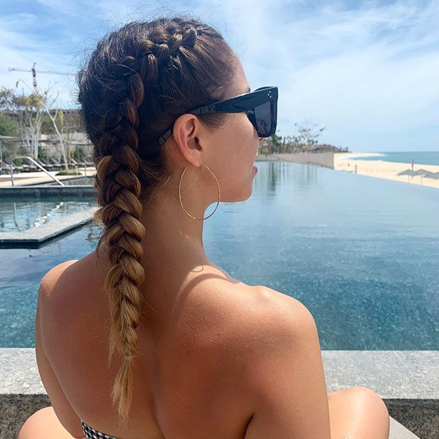 Braids for days! . . . #vacationhair #dutchbraids #braid #festivalhair #beautybyrosheen