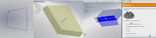 Solidworks sketches and features
