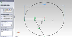 Ellipse entities made in Solidworks for export to Alias