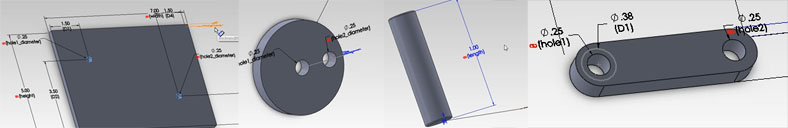 """Building the various parts to be used in a Solidworks Assembly. Remember proper use of """"Save As Copy..."""""""