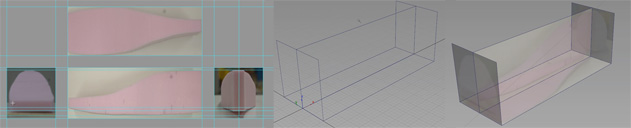 Starting with orthographic views then building corresponding geometry.
