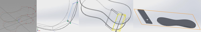 Quick demonstration importing alias geometry into solidworks. Showing the multiple solid body workflow where each body is saved as an individual part then reorganized into an assembly with front plane alignment in anticipation for mill work in the Z direction.