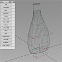 Bottle made with multiple generation curves and rail curves.