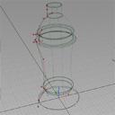 Use of revolves for bottle surface generation.