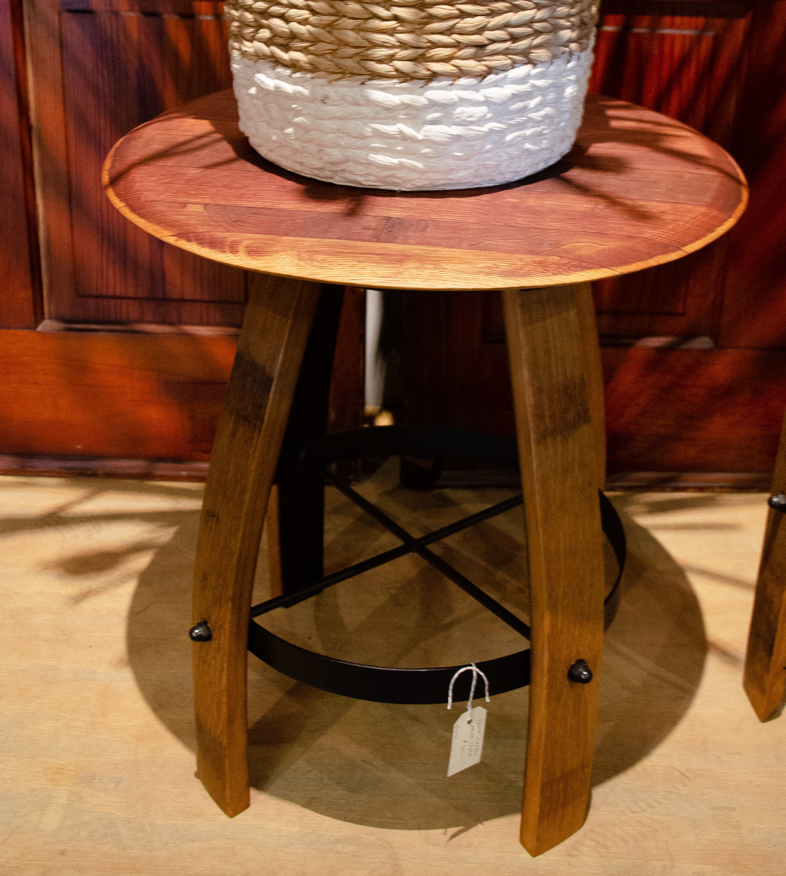 Wine Barrel Small Table