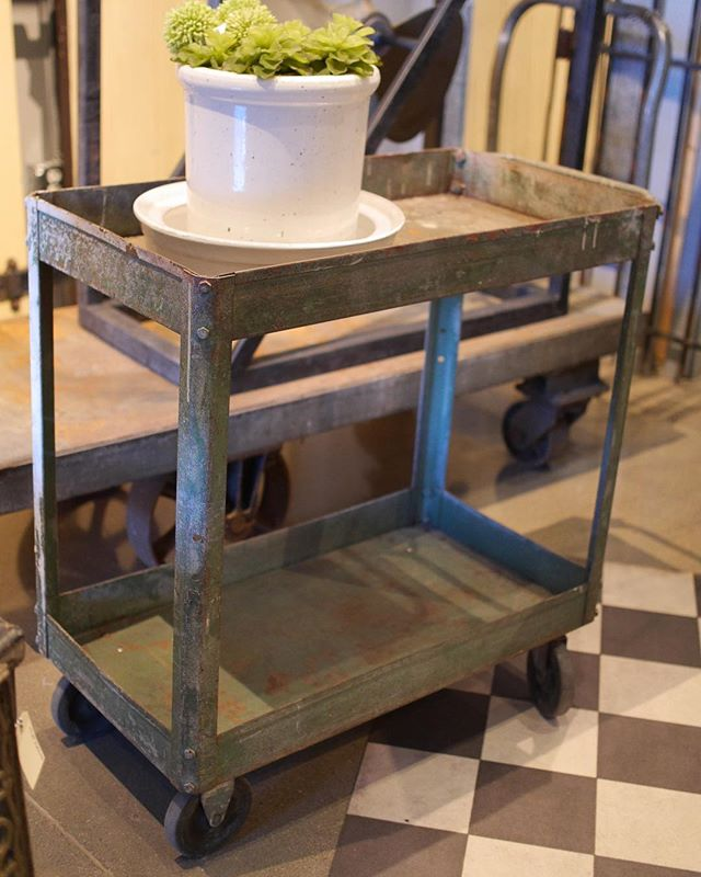 This Vintage Green Factory Cart is just one of many vintage carts we will have available this weekend during our event!