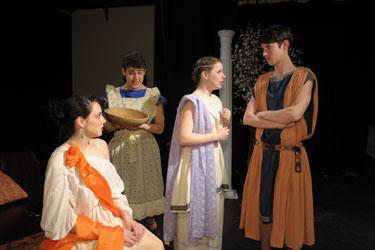 Angela Travinso (Venus), Christian Leadley (Paphos), Lauren Devine (Galatea) and Chris Dwan (Pygmalion)